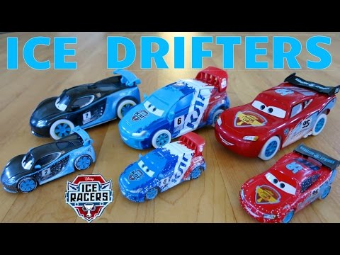 NEW DISNEY PIXAR CARS ICE RACERS DRIFTERS DRIFTING ACTION RACE LIGHTNING MCQUEEN