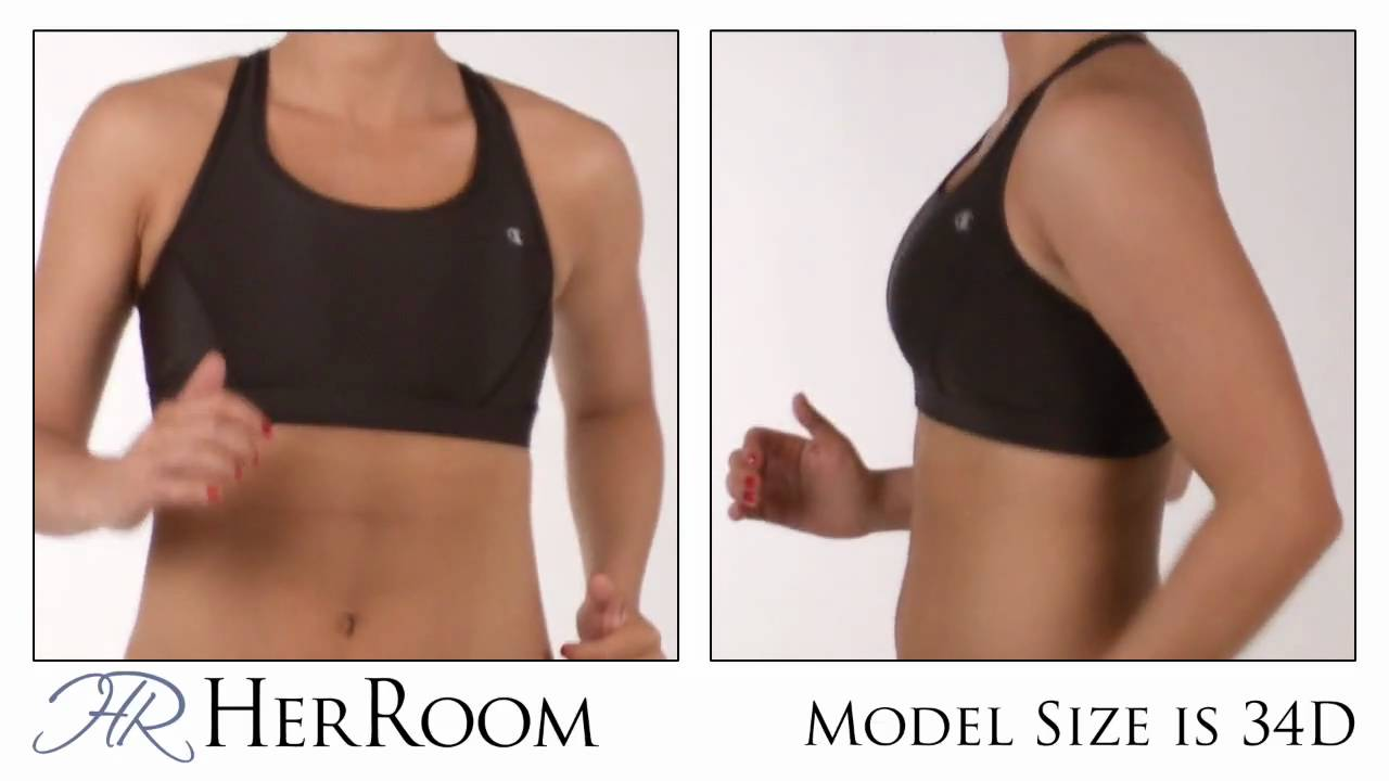 1a5d0146aea2a The Bounce Test-Champion Compression Vented Sports Bra 6793 - YouTube
