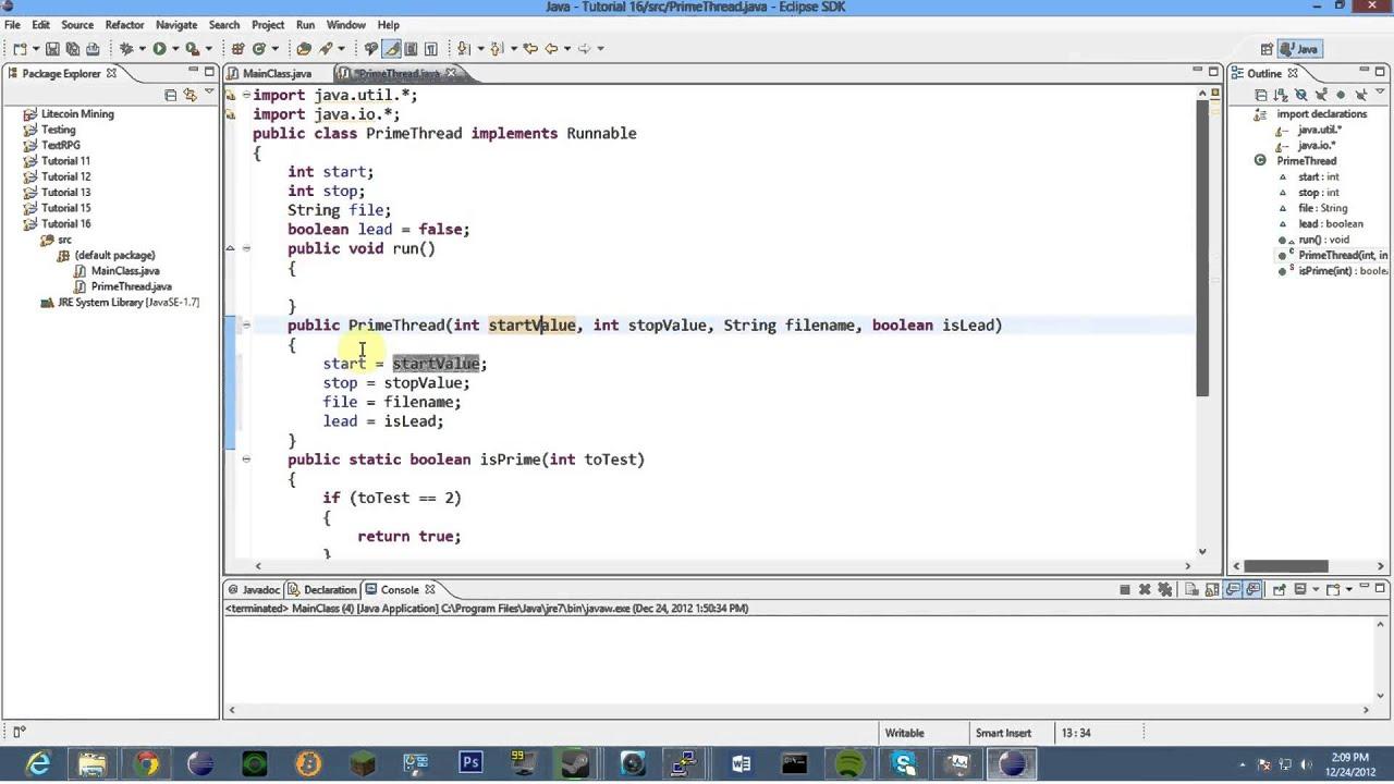 Java Tutorial 16: Hello Multi-Threading! - YouTube