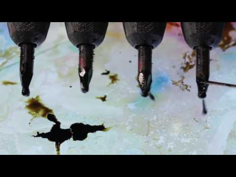 How to paint on Water for Paper Marbling and Ebru Art.