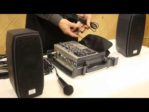 Peavey Messenger Portable 100 Watt Powered PA System w/ Speakers, Mic/Mixer/Case | AudioSavings.com