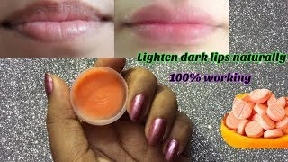DIY vitamin c lip balm    lighten dark lips naturally at home