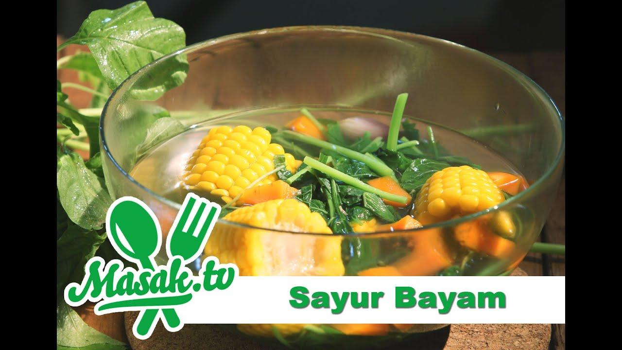 Image result for Sayur bayam masak.tv