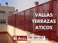 ? Vallas para áticos - 916 560 457 - Cerramientos de áticos y terrazas en Madrid