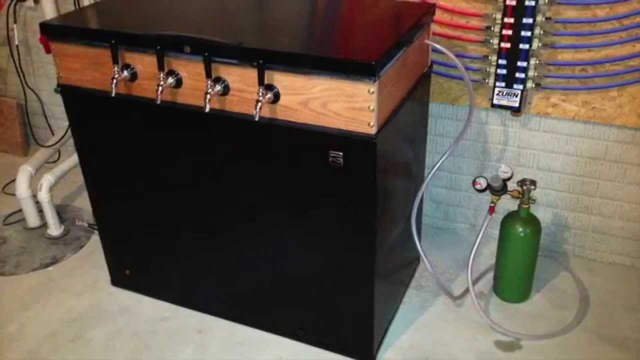 Building My Keezer Freezer Kegerator Youtube