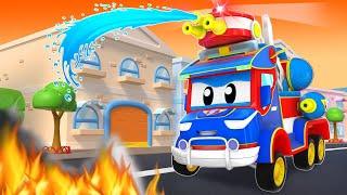 Super FIREFIGHTER rescues the CITY!  | SuperTruck - Rescue | Trucks Videos for Children screenshot 5