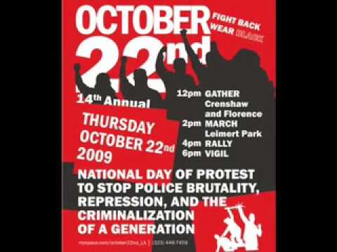 National Day of Protest to Stop Police Brutality- October 22nd- Los Angeles