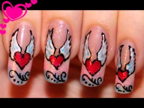 Nail Design Heart Angel Migi