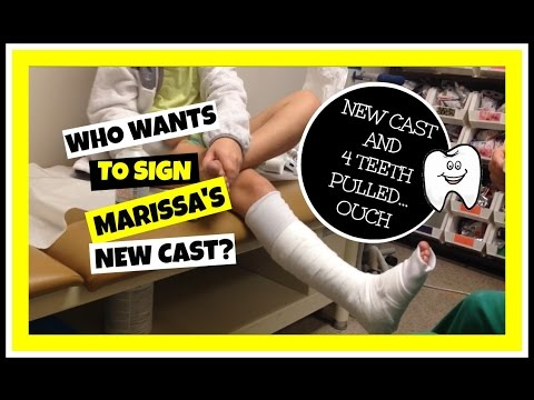 NEW CAST FOR MARISSA'S BROKEN LEG, FOUR TEETH PULLED, AND A CONTEST