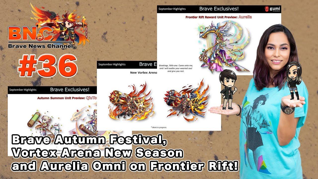 【ブレフロ】【BNC】Brave Autumn Festival, Vortex Arena New Season and Aurelia Omni  on Frontier Rift!【BNC】#36