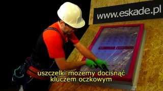 Eskade -- Montaż okna dachowego z poliwęglanu czyli lekkiego świetlika jednospadowego A3