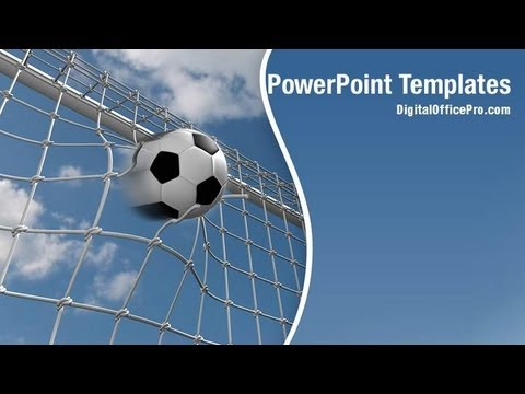 soccer goal powerpoint template backgrounds - digitalofficepro, Powerpoint templates