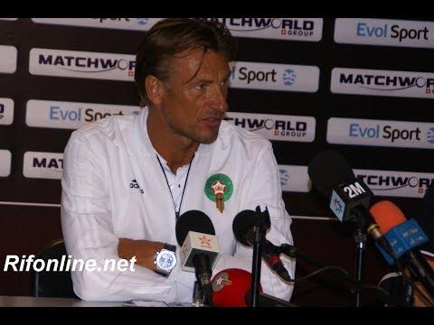Conférence de presse de Hervé Renard après le match Maroc vs Ukraine