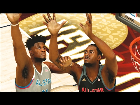 West All Stars VS East All Stars   Alley-Oop Only Challenge   NBA 2K17 Challenge