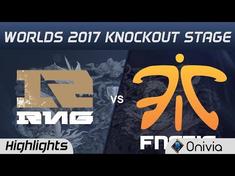 RNG vs FNC  Highlights Game 3  World Championship 2017 Knockout Stage Fnatic vs Royal Never Give U