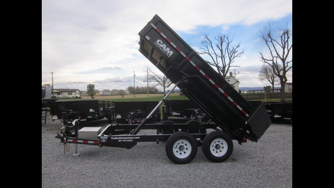 6 X 12 CAM Superline 10K Heavy Duty Low Profile Dump