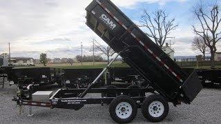 6' X 12' CAM Superline 10K Heavy Duty Low Profile Dump Trailer For Sale