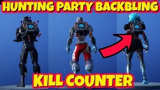 NEW HUNTING PARTY KILL COUNTER BACKBLING ON DIFFERENT SKINS IN FORTNITE