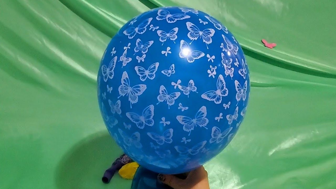 INFLATING AND DEFLATING FUN BUTTERFLY BALLOONS PART 2!!!