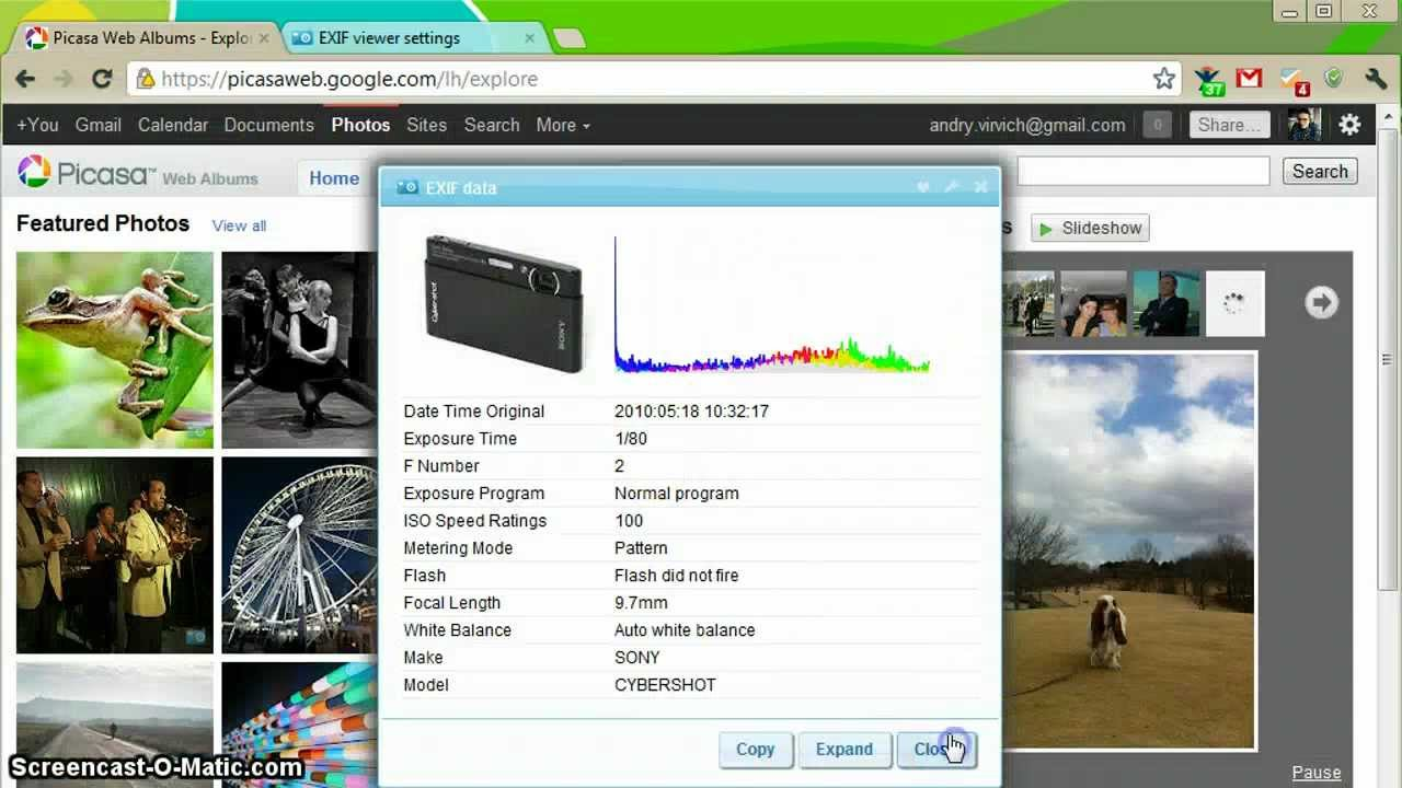 EXIF Viewer for Google Chrome