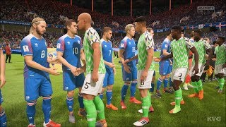 2018 FIFA World Cup Russia - Nigeria vs Iceland - Gameplay (HD) [1080p60FPS]