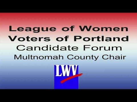 Multnomah County Chair Candidate Forum