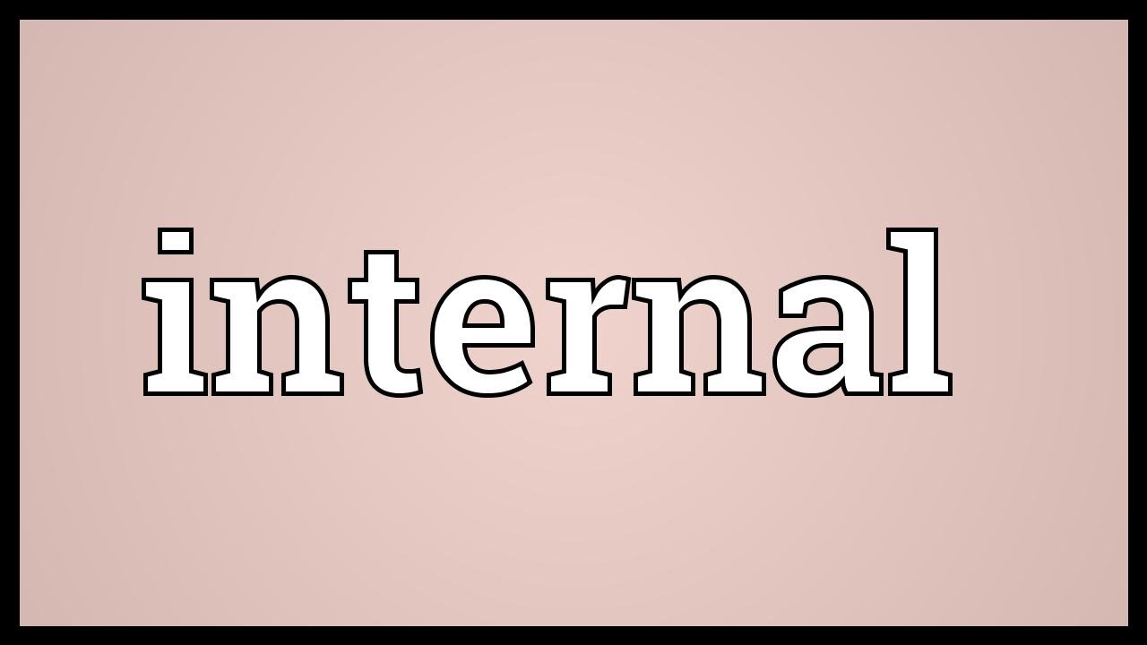 Internal Meaning - YouTube
