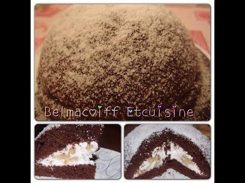 recette-du-gâteau-au-yaourt-et-chocolat-avec-ça-garniture-chantilly-banane