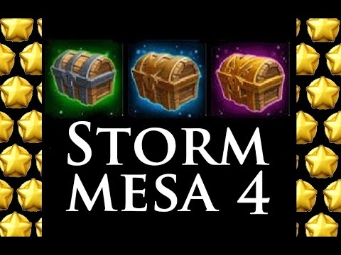 Castle Clash - Storm Mesa 4 - Orcsbane As TANK !