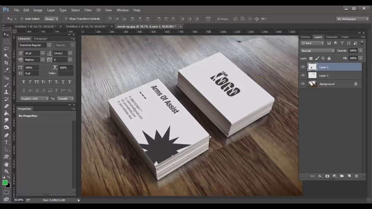 tutorial about how to make business card simple business card