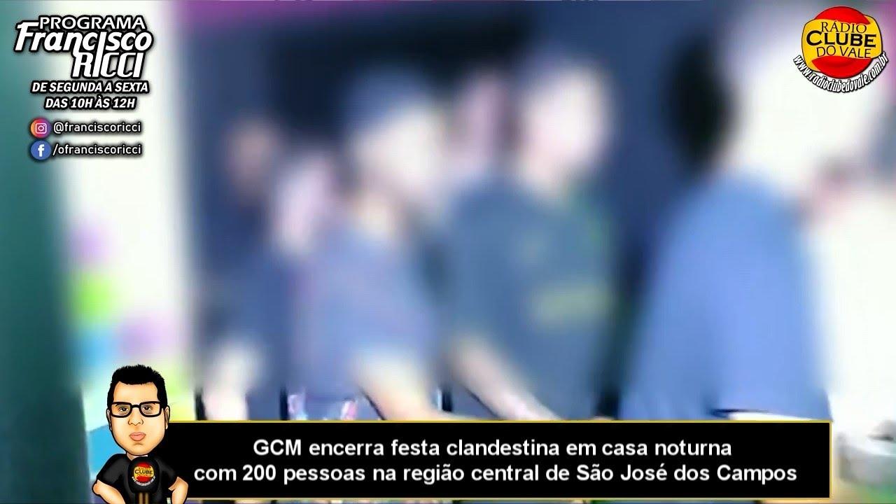 GCM encerra festa clandestina em casa noturna com 200 pessoas no centro de São José dos Campos