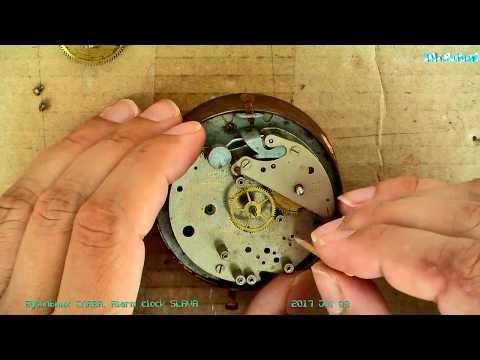 SLAVA Alarm Clock. Будильник СЛАВА неполная разборка, ремонт