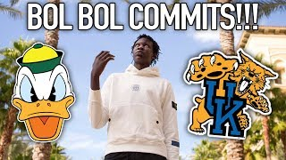 BOL BOL MAKES HIS COLLEGE DECISION! His Sneaker Game About to be CRAZY!!!