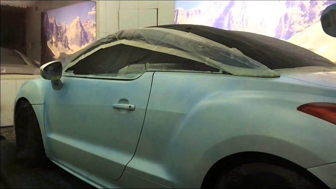 Peugeot Rcz Plasti Dip Blue Matte Black Matte Youtube