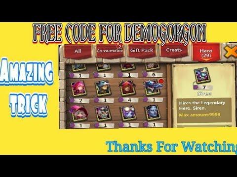 FREE CODE FOR DEMOGORGON - CASTLE CLASH