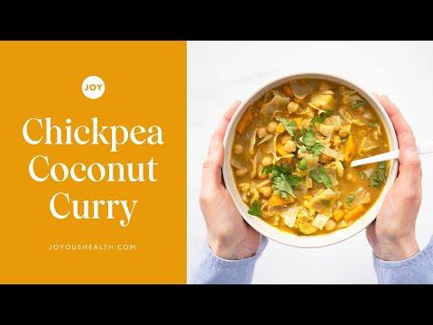 Chickpea Coconut Curry (Vegan, Vegetarian recipe)