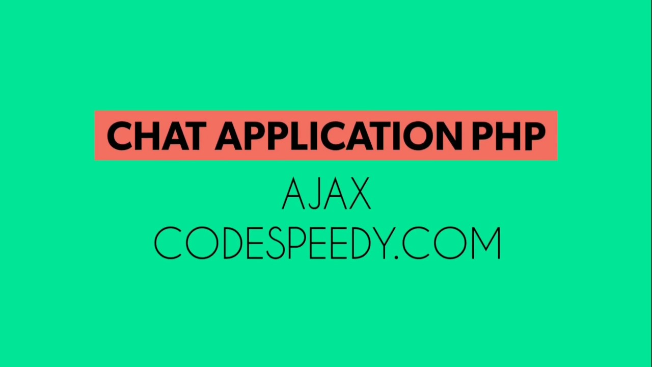 Chat Application With File Sharing System PHP AJAX Free Source Code