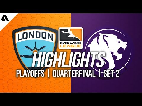 London Spitfire vs LA Gladiators | Overwatch League Playoffs Highlights Quarterfinals Match 2 thumbnail