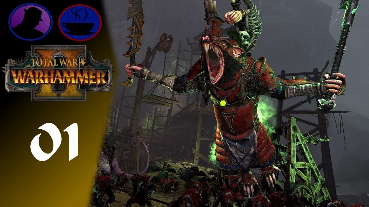 Let's Play Total War Warhammer 2 - Part 1 - Skaven Co-Op Gameplay!