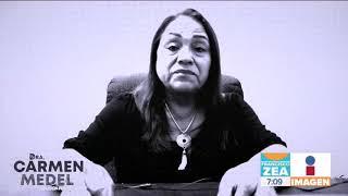 Reaparece la diputada de Morena Carmen Medel tras asesinato de su hija | Noticias con Francisco Zea