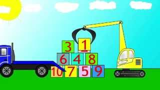 cartoons for children about cars an excavator loader and a truck big trucks for kids