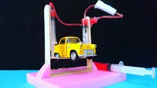 Şırınga İle Otolift  Nasıl Yapılır- How To Make a Car Service Lift