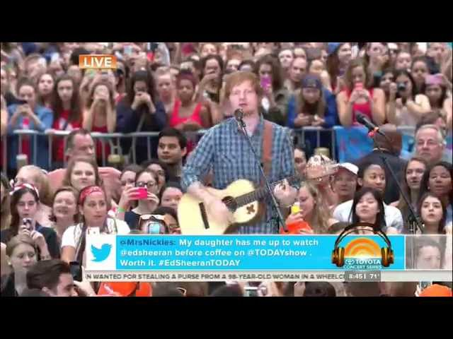 Ed Sheeran- Sing [Today Show 7/4/14]