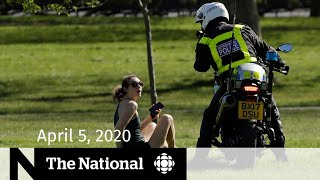 WATCH LIVE: The National for Sunday, April 5 — Physical distancing enforcement