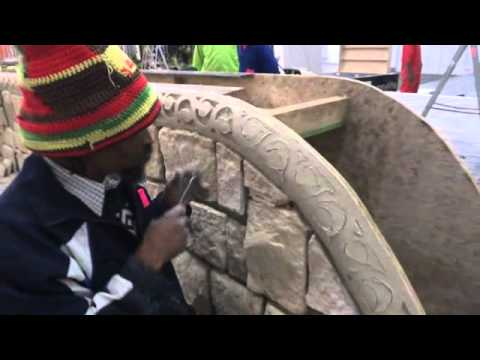 Cement carving for homemakers expo.wmv