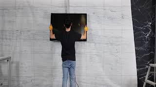 벽을 꼭 뚫고 벽걸이TV를 설치해야 할까요???