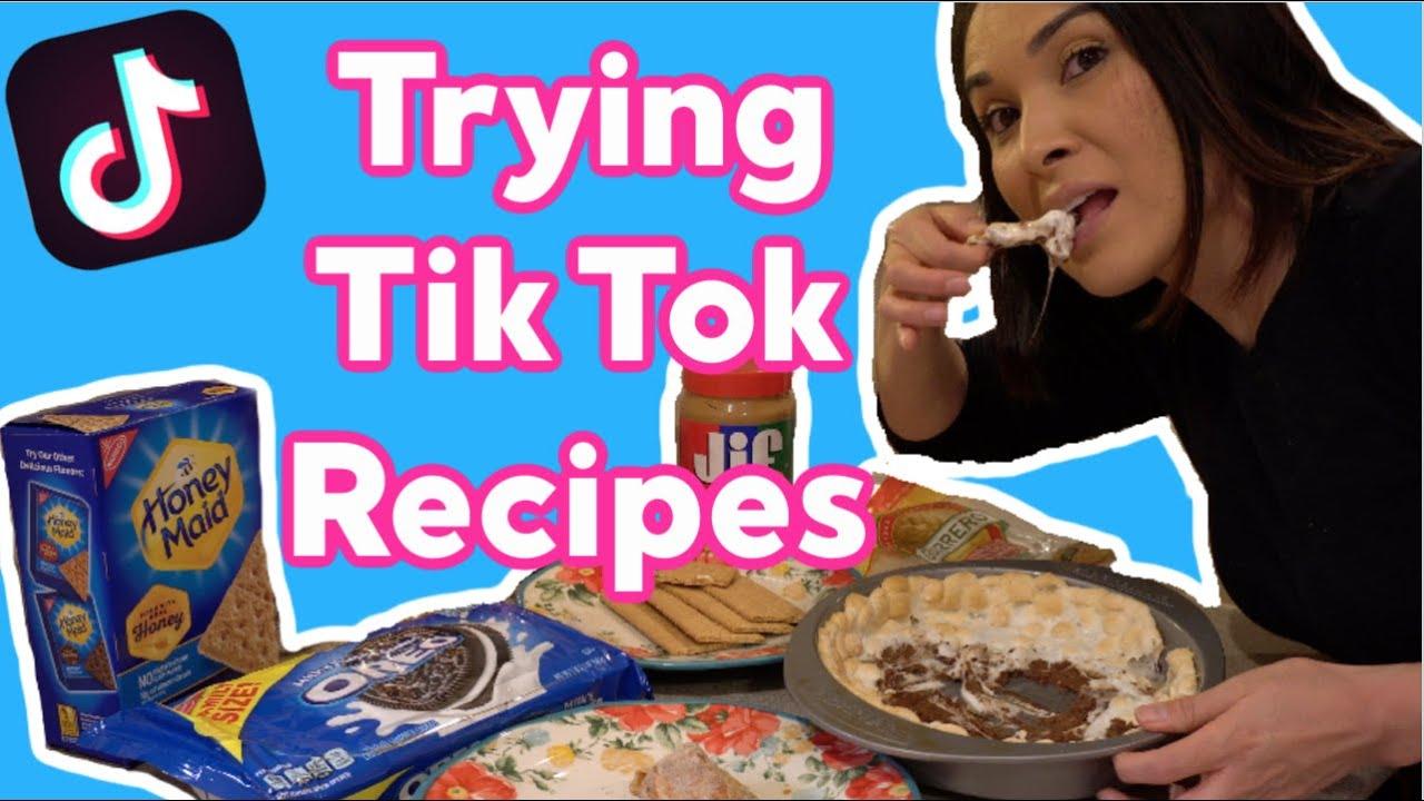 TRYING VIRAL TIKTOK RECIPES! FOOD HACKS🍫