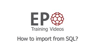 2.3 How to import from SQL?