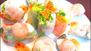 Raw spring rolls | Panda Wonton Cooking [Macaron Recipe]'s recipe transcription