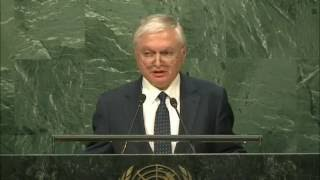 Edward Nalbandian, Minister of Foreign Affairs of Armenia speaks at UNGA